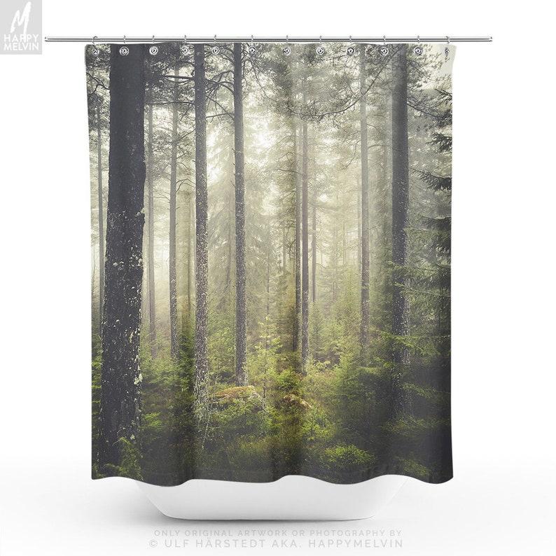 Magical Forest Shower Curtain Enchanted Bathroom