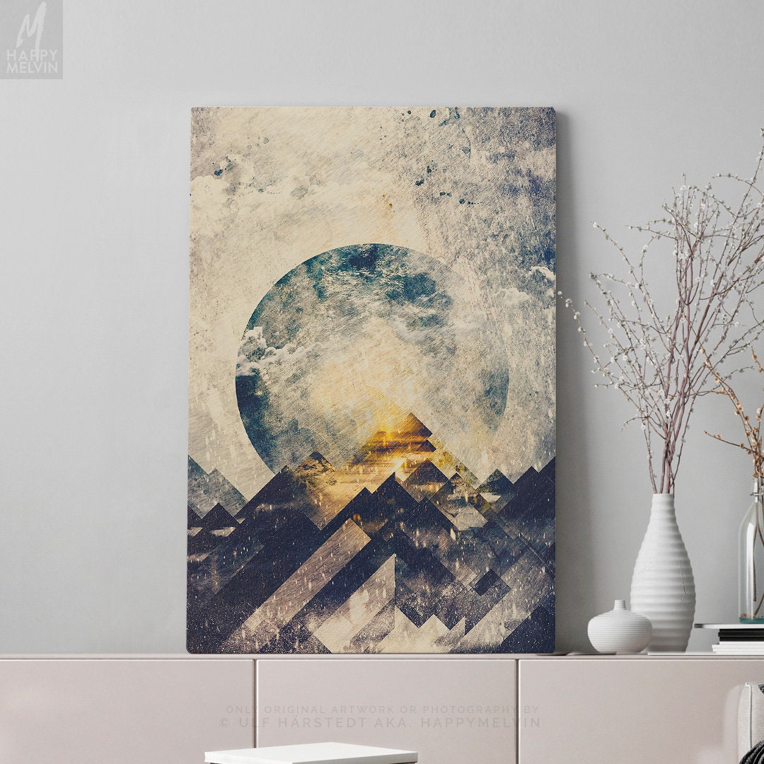 One Mountain Canvas Print Large Abstract Wall Art And Wall Decor