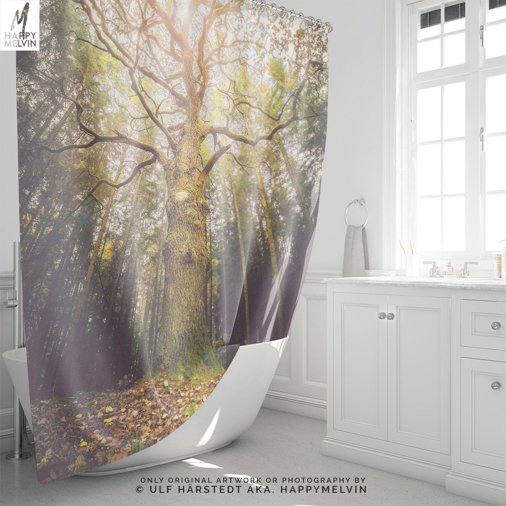 Magical Tree Shower Curtain A Nature Bathroom Decor Making Unique