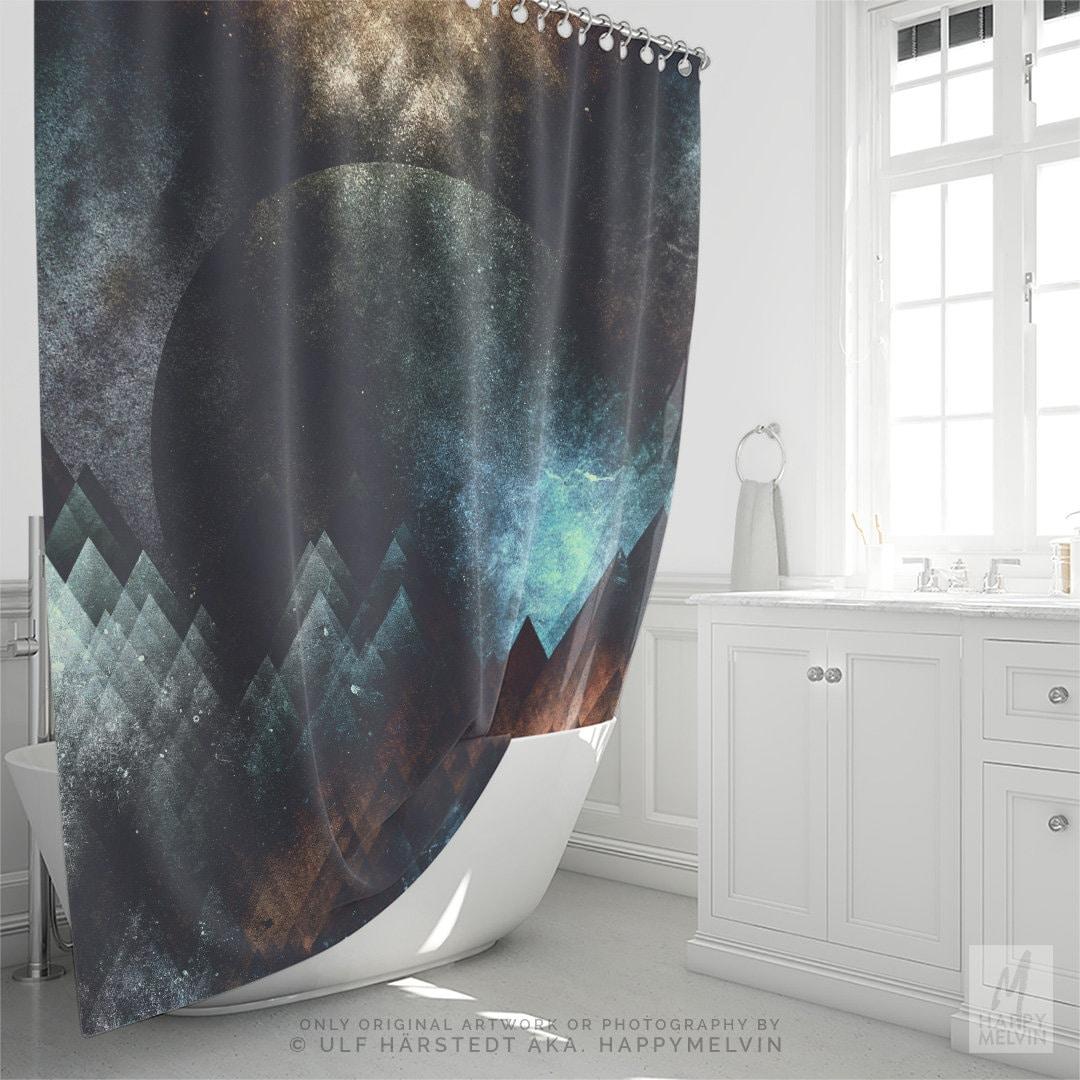 Artsy Shower Curtain Abstract Art Bathroom Curtain Boho Bathroom