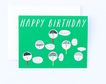 Golf Birthday Card Funny Golfig Advice For Dad