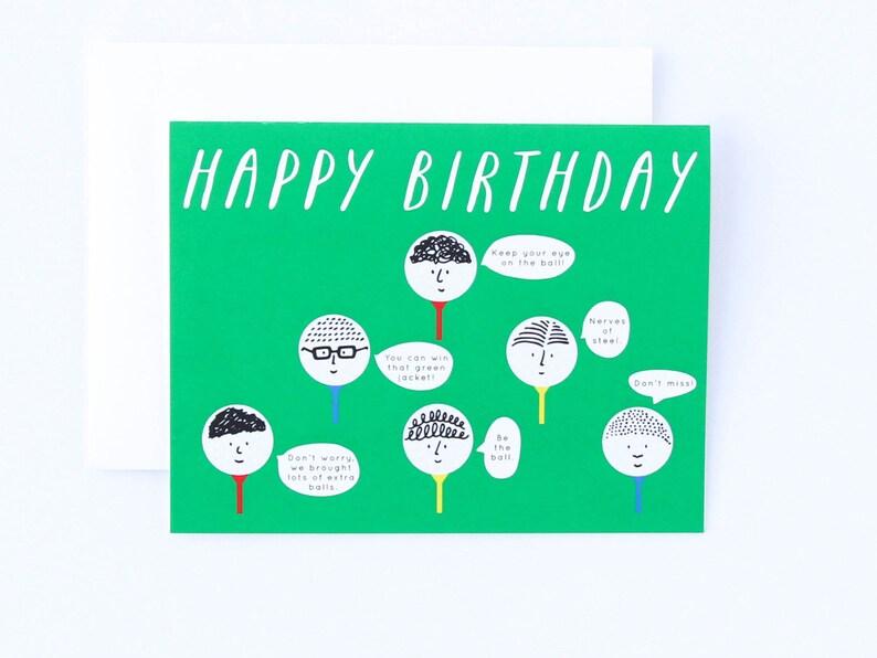 Golf Birthday Card Funny Golfig Advice