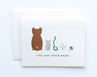 Support Card, I've Got Your Back Card, Friendship Card, Encouragement Card, I'm Here For You Card