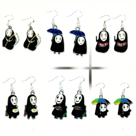 Ghibli Spirited Away Super Cool No Face Jewelry Stud Earrings Studs Anime