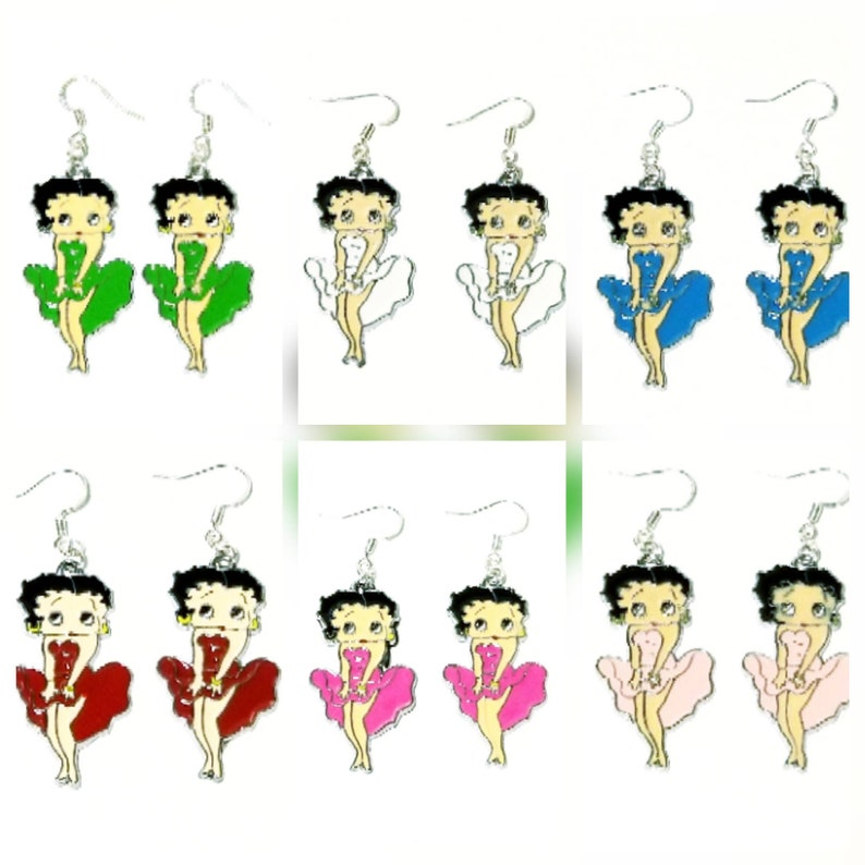 Animé SéduisanteSexy Betty Boop Boucles D'oreillesDessin D'oreilles Cartoon PnkX80wO