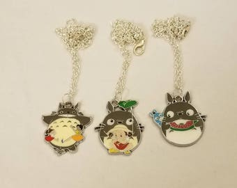 Free Shipping Totoro Inspired Necklace, Studio Ghibli Necklace, My Neighbor Totoro Necklace, Anime Necklace