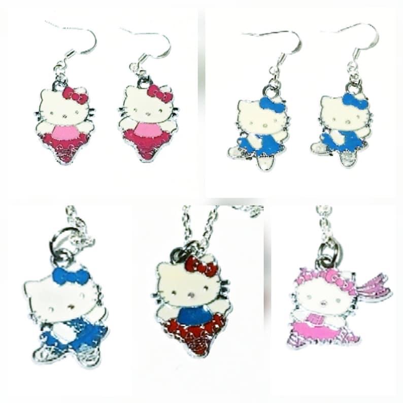 947ffaa5b Hello Kitty Inspired Necklaces Hello Kitty Earrings Sanrio | Etsy