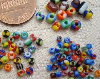 Turquoise-Lined Rainbow craft approx 3mm size 8//0 50g glass seed beads