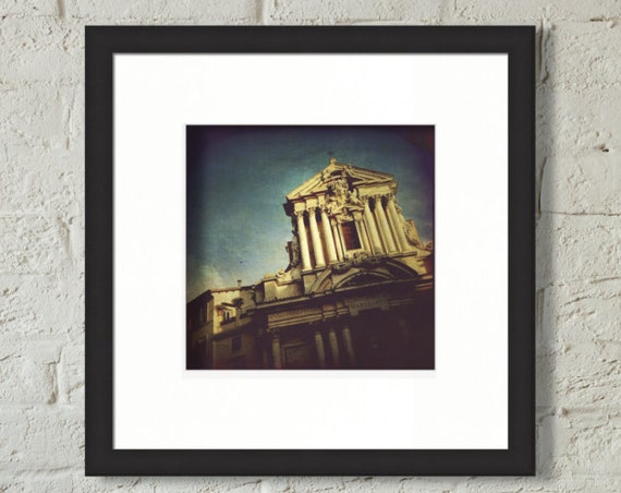 Framed Print ~ Rome Italy architecture facade sky matted fine wall art photo print museum quality giclée archival materials Artsfish Studio