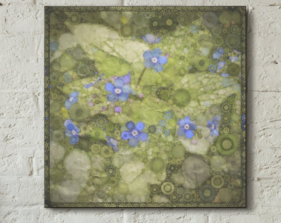 Canvas wrap ~ Forget Me Not ~ wall art flowers ~ READY TO HANG solid back canvas photo print fine wall art quality materials Artsfish Studio