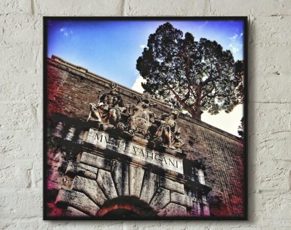 Canvas wrap ~ Vatican Museum / Musei Vaticani Italy Rome ~ READY TO HANG ~ solid back photo print fine wall art quality Artsfish Studio