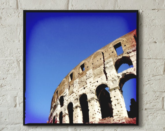 Canvas wrap ~ Colosseum Rome Italy classical architecture ~ READY TO HANG ~ solid back photo print fine wall art quality Artsfish Studio