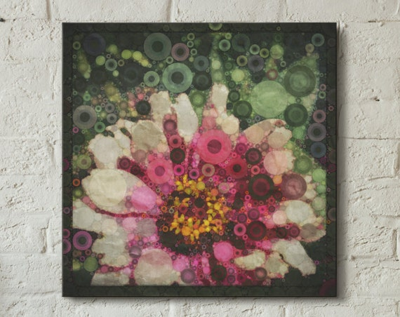 Canvas wrap ~ Gerber Daisy ~ nature flowers - READY TO HANG ~ solid back canvas photo print fine wall art quality materials Artsfish Studio