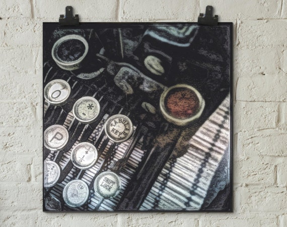 Unframed Print ~ Underwood vintage antique typewriter ~ giclée wall art ~ Hahnemühle artist paper museum quality archival  Artsfish Studio