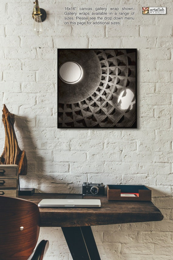Canvas wrap ~ The Pantheon Oculus ~ READY TO HANG ~ solid back canvas photo print fine wall art quality premium materials Artsfish Studio