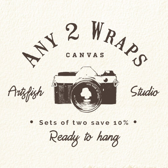 Any 2 Canvas wraps ~ Square 1:1 set save 10% ~ READY TO HANG ~ solid back photo print wall art quality premium materials Artsfish Studio