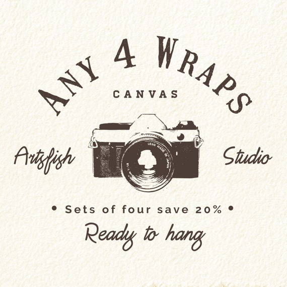 Any 4 Canvas wraps ~ Square 1:1 set save 20% ~ READY TO HANG ~ solid back photo print wall art quality premium materials Artsfish Studio