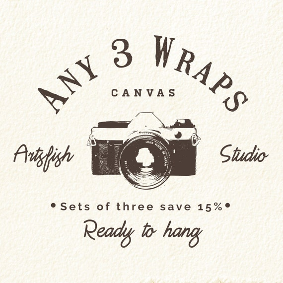 Any 3 Canvas wraps ~ Square 1:1 set save 15% ~ READY TO HANG ~ solid back photo print wall art quality premium materials Artsfish Studio