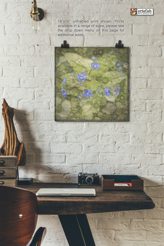 Unframed print ~ Forget Me Not ~ giclée original wall art flowers wall art ~ Hahnemühle artist paper museum quality archival Artsfish Studio