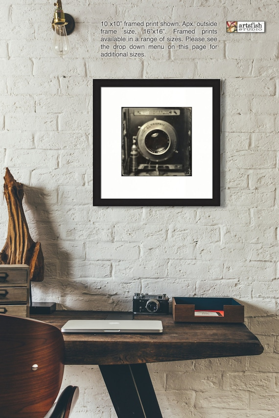 Framed print ~ Speed Graphic Camera vintage 40's  ~ matted wall art Hahnemühle paper museum quality giclée premium archival Artsfish Studio