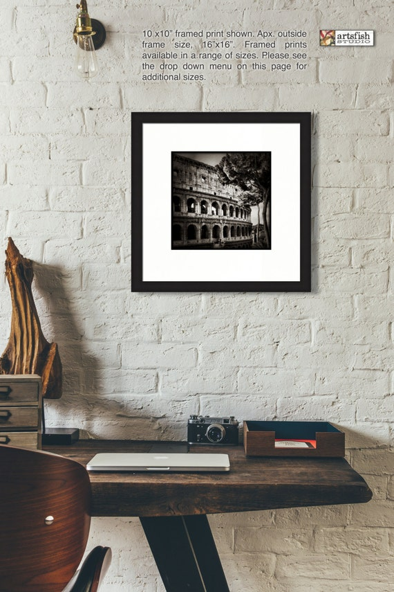 Framed print ~ The Colosseum  ~ original photograph matted wall art Hahnemühle artist paper giclée archival materials Artsfish Studio