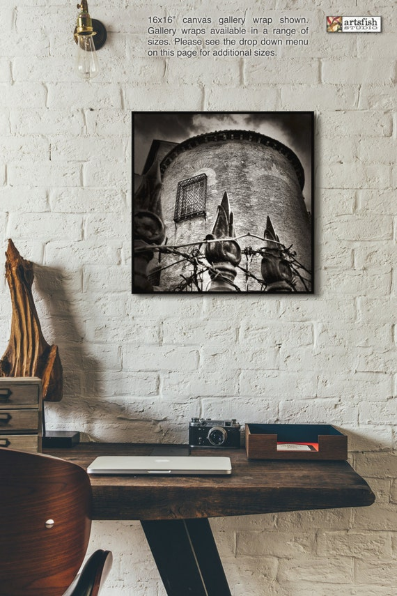 Canvas wrap ~ Rome Tower~ READY TO HANG ~ solid back canvas wrap photo print fine wall art quality premium materials Artsfish Studio