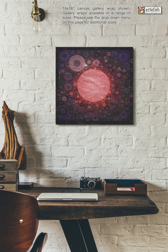 Canvas Wrap ~ Red Hole Sun ~ READY TO HANG ~ solid back canvas wrap photo print fine wall art quality premium materials Artsfish Studio