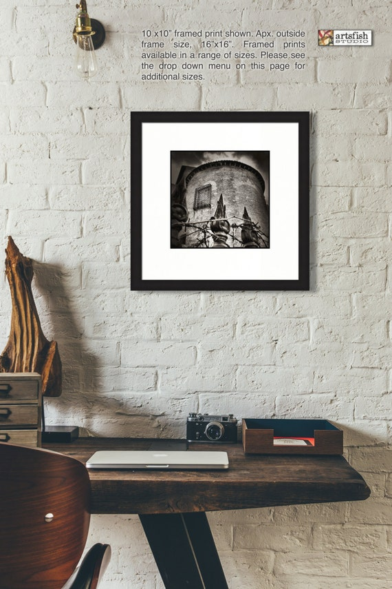 Framed print ~ Rome Tower ~ original matted wall art Hahnemühle artist paper museum quality giclée archival materials Artsfish Studio