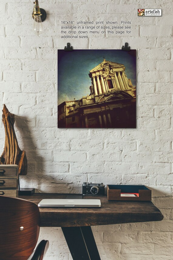 Unframed Print ~ Rome Italy architecture facade sky original wall art Hahnemühle photo print museum quality archival Artsfish Studio