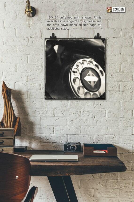 Unframed print ~ Vintage Rotary Phone ~ giclée ~ art photo wall art print ~ Hahnemühle artist paper museum quality archival  Artsfish Studio