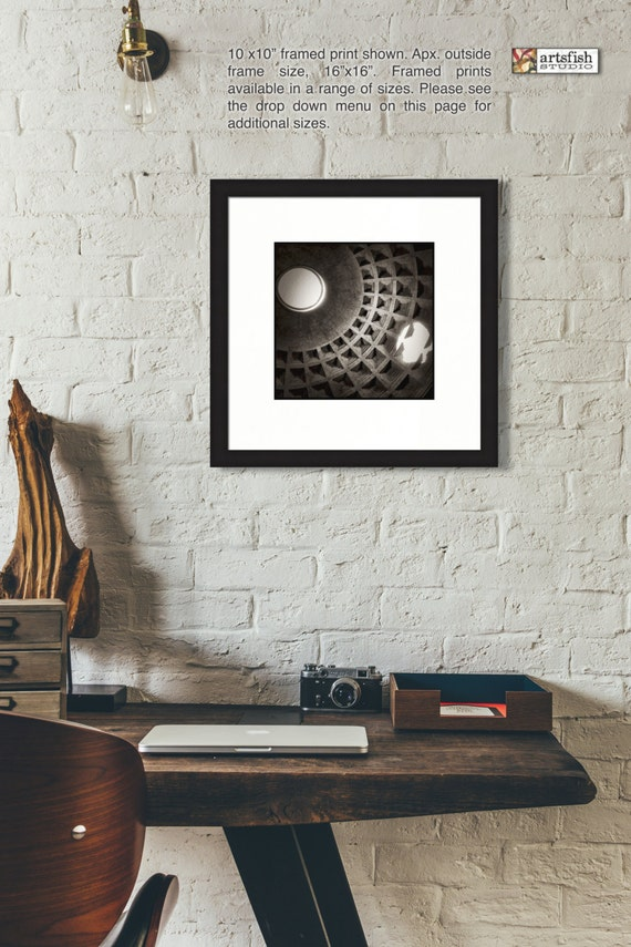 Framed print ~ The Pantheon Oculus ~ original matted wall Hahnemühle artist paper museum quality giclée archival materials Artsfish Studio