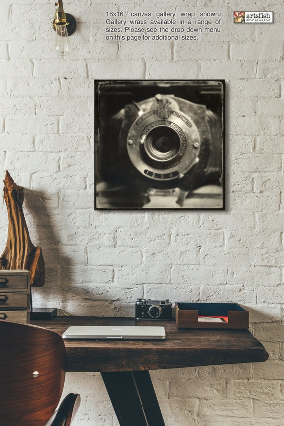 Canvas wrap ~ Antique Kodak Brownie Camera ~ READY TO HANG ~ solid back photo print fine wall art quality premium materials Artsfish Studio