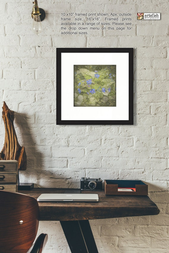 Framed print ~ Forget Me Not ~ wall art flowers nature matted original wall art print quality giclée archival materials Artsfish Studio