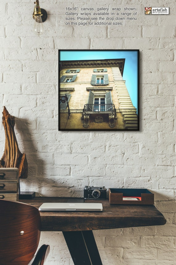 Canvas wrap ~ Rome Italy architecture ~ READY TO HANG ~ solid back canvas photo print fine wall art quality materials Artsfish Studio