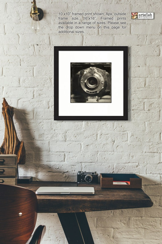 Framed print ~ Antique Kodak Brownie Camera ~  matted fine wall art Hahnemühle artist paper museum quality giclée archival Artsfish Studio