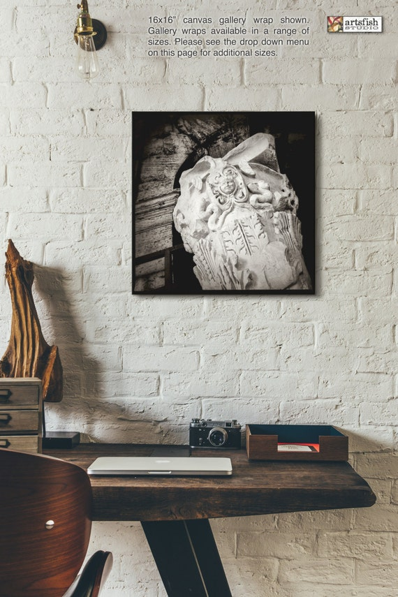 Canvas wrap ~ Roman Capital at the Colosseum ~ READY TO HANG solid back photo print fine wall art quality premium materials Artsfish Studio