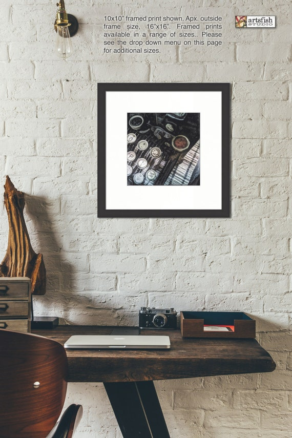Framed print ~ Underwood Typewriter ~ vintage antique museum quality giclée archival Hahnemühle fine art photo print Artsfish Studio
