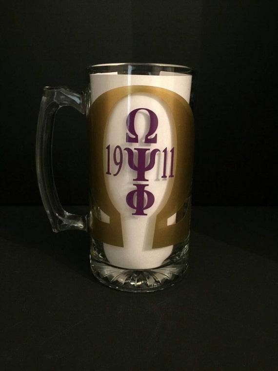 Omega Psi Phi Personalized 27 Oz Beer Mug Omega Psi Phi Etsy