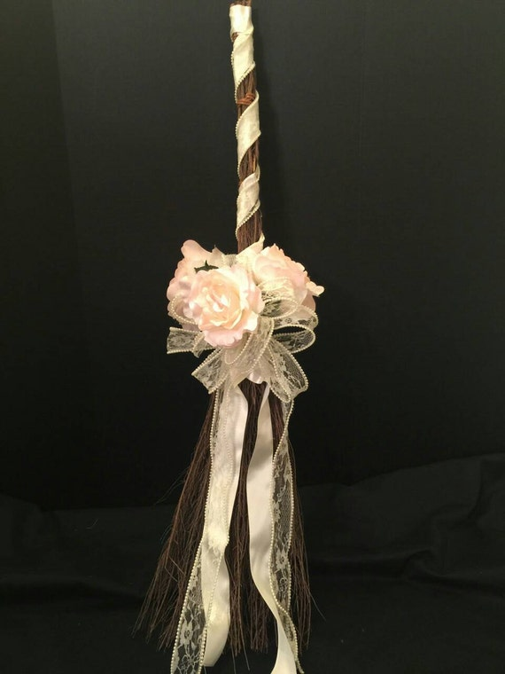 Pearls And Lace Custom Wedding Broom African Jumping Broom Etsy