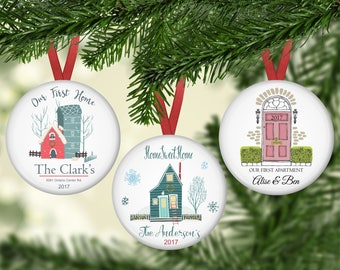 Christmas Ornaments, Home Sweet Home, First House, First Apartment, Gift, Boy, Girl, Family