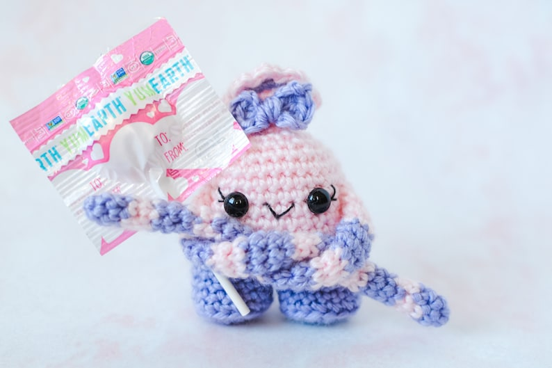 Valentine's CROCHET PATTERN.  Mini Monster. Crochet image 0