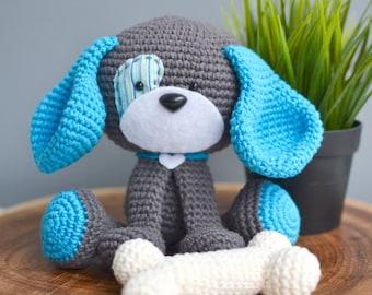 Dog CROCHET PATTERN. Domino The Dog. Snuggle-Sized Crochet Dog Pattern. Amigurumi Dog. PDF crochet pattern.