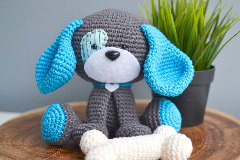 Dog Crochet Pattern Domino The Dog Crochet Dog Pattern Etsy