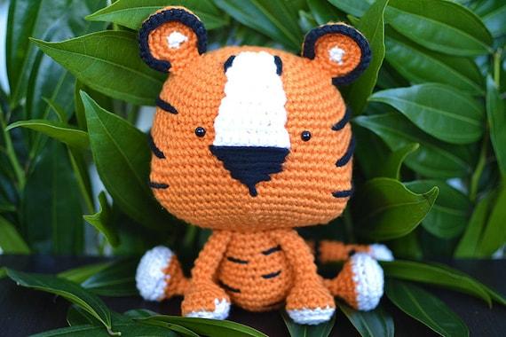 Tiger Crochet Pattern Tito The Tiger Crochet Pattern Tiger Etsy