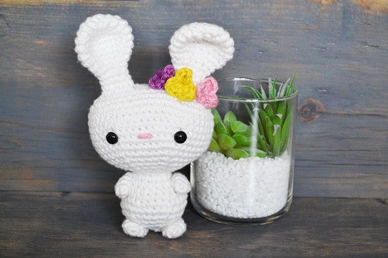 Bunny CROCHET PATTERN. Belle The Bunny. Crochet Bunny Pattern. image 0