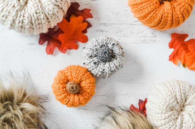 Faux Knit Pumpkins Crochet Pattern. Pumpkin Crochet Pattern. image 0