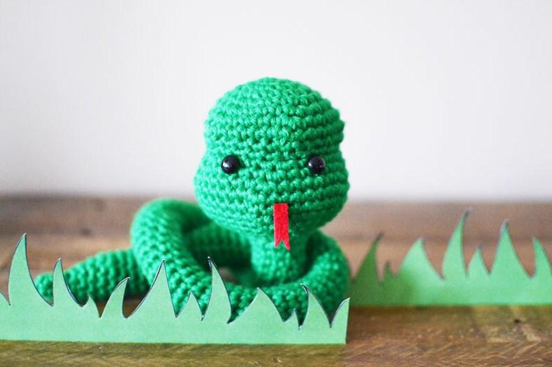 Snake CROCHET PATTERN. Simon The Snake. Crochet Snake Pattern. image 0
