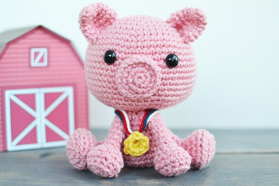 Pig Crochet Pattern Porkchop The Pig Crochet Pattern Pig Etsy
