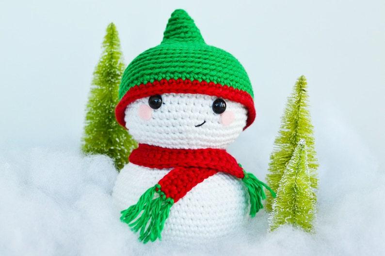 Christmas Snowman CROCHET PATTERN. Sid The Snowman. Crochet image 0