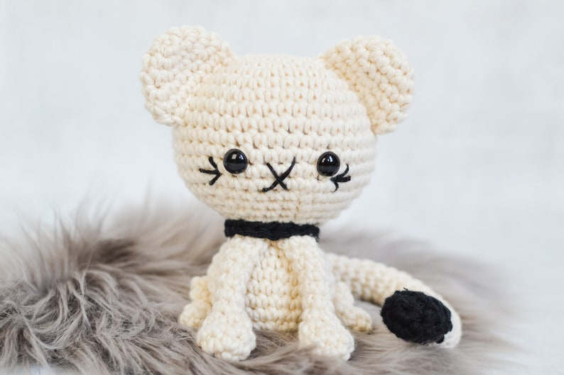Cat CROCHET PATTERN. Cecil The Cat. Crochet Cat Pattern. image 0